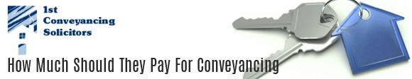 How Much Should they Pay for Conveyancing